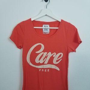 Zoe Karssen Graphic Carefree Tee Shirt Shortsleeve